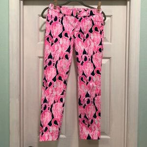 NWT Lilly  Pulitzer flamingo skinny pants